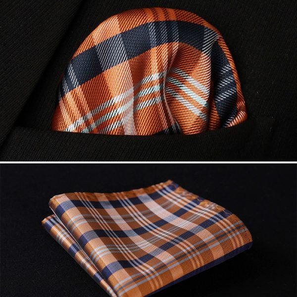 Brown Pocket square for men