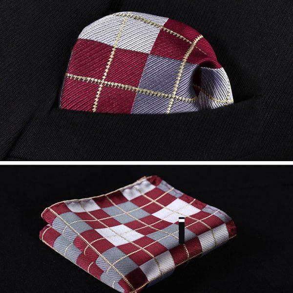 Burgundy handkerchief for gentlemen