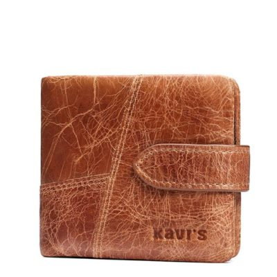 Brown Classic Genuine Leather Wallets