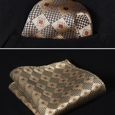 Gold handkerchief for men