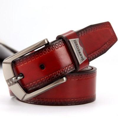 Red Vintage Leather Belt
