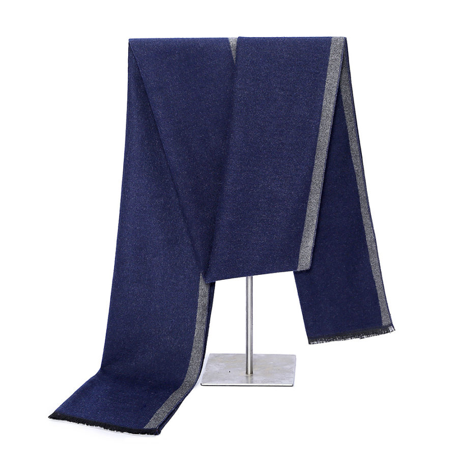 Navy Cashmere Business Scarf