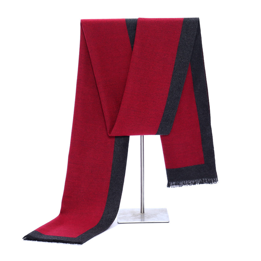 Red Cashmere Business Scarf