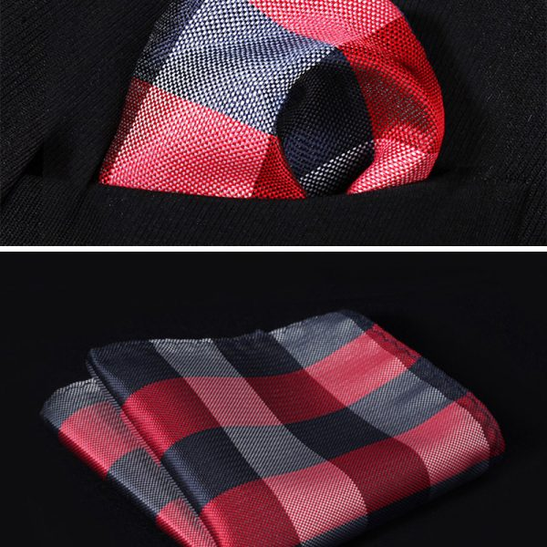 burgundy - navy handkerchief