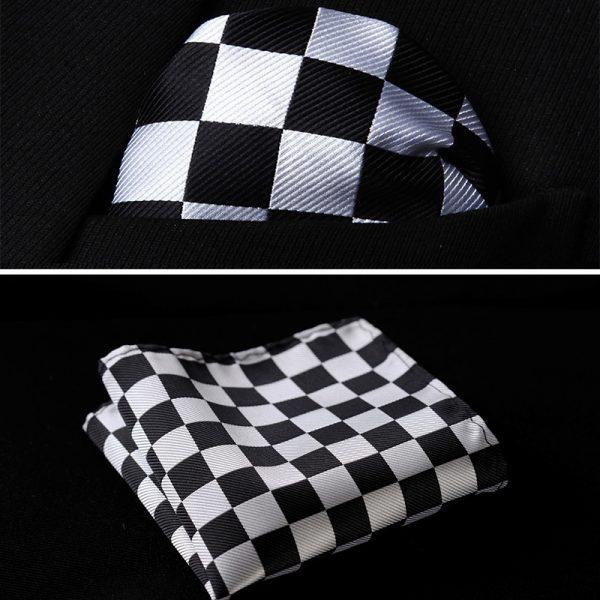 handkerchief black white