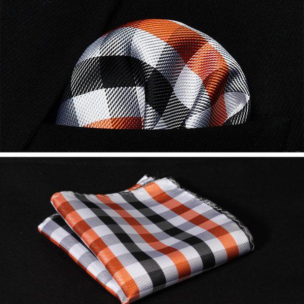 orange handkerchief for men