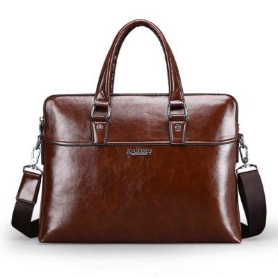 Brown Modern Business Briefcase