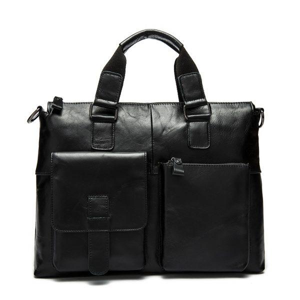 back leather business bag