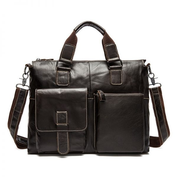 coffe leather business bag