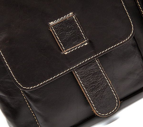 mens coffe leather bag