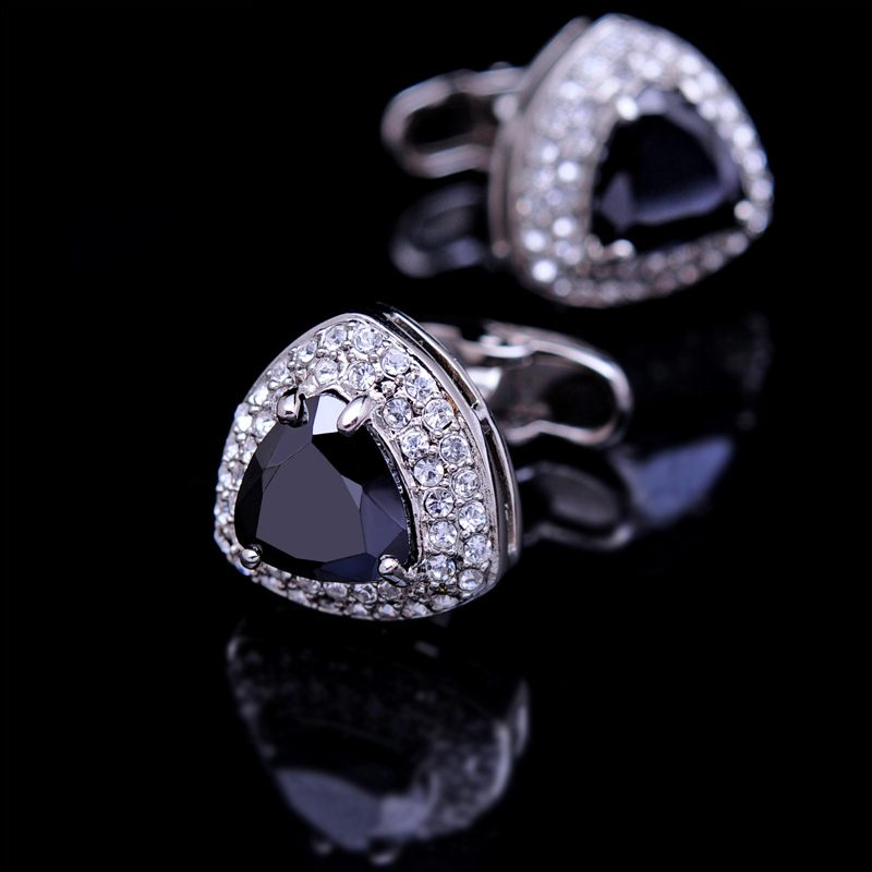 Black Crystal Cufflinks