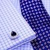 Button Cuff Shirt Black Crystal Onyx Cufflinks With Sterling Silver Plating from Gentlemansguru.com