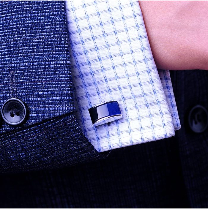 Buy Navy Blue Cufflinks Set from Gentlemansguru.Com