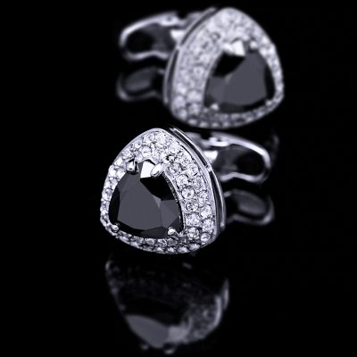 Crystal Black Onyx Cufflinks from Gentlemansguru.com