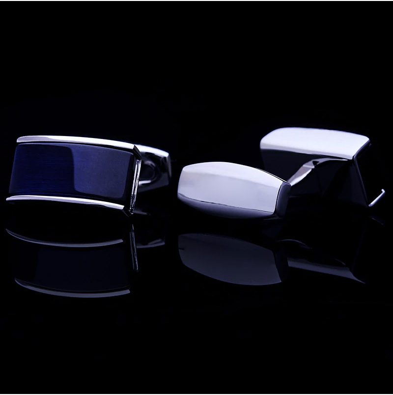 Mens Navy Blue Silver Cufflinks Uk-Suit-Shirt- from Gentlemansguru.com