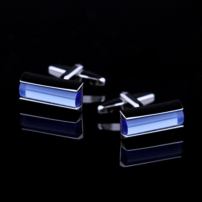 light blue crystal cufflink shirts