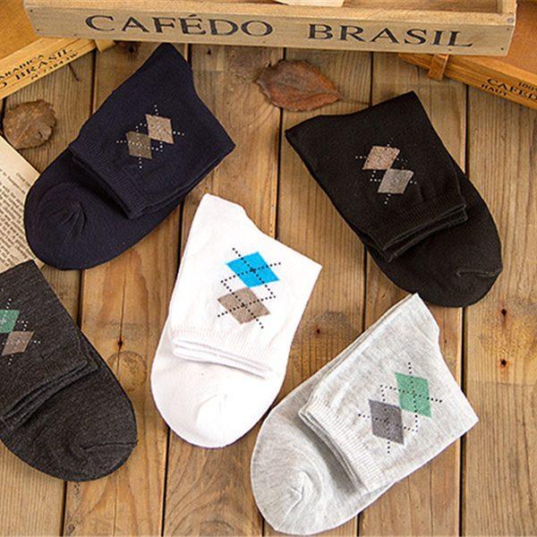 Argyle Dress Socks 5 PCS