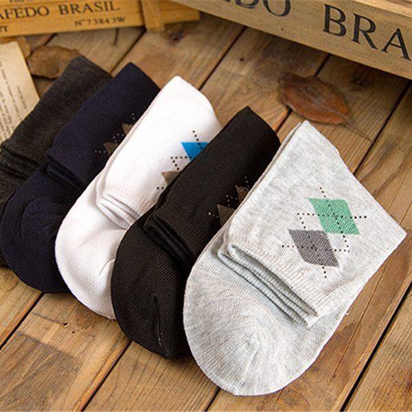Men's mixed colors Argyle Dress Socks 5 PCS