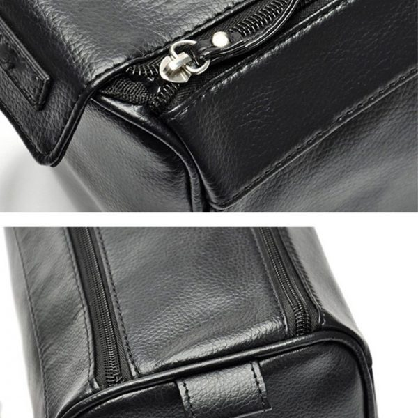 toiletry bag leather for men