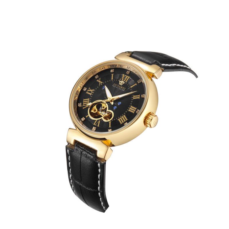 Black & Gold Vintage Style Wrist Watch
