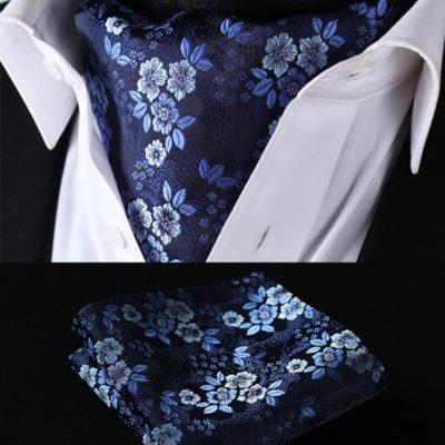 Blue Floral Ascot Set