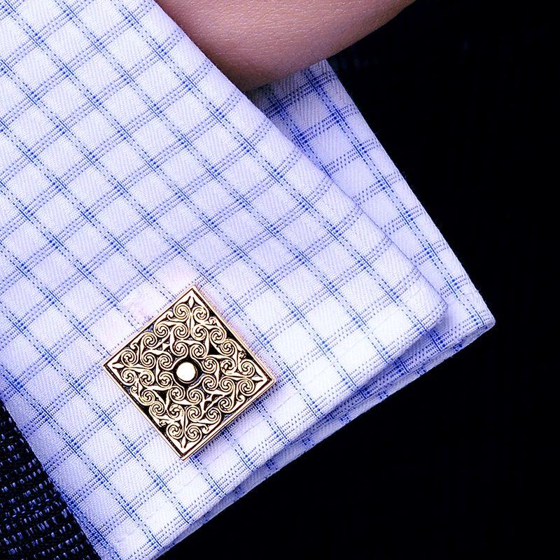 Gentleman's Gold Scroll Cufflinks