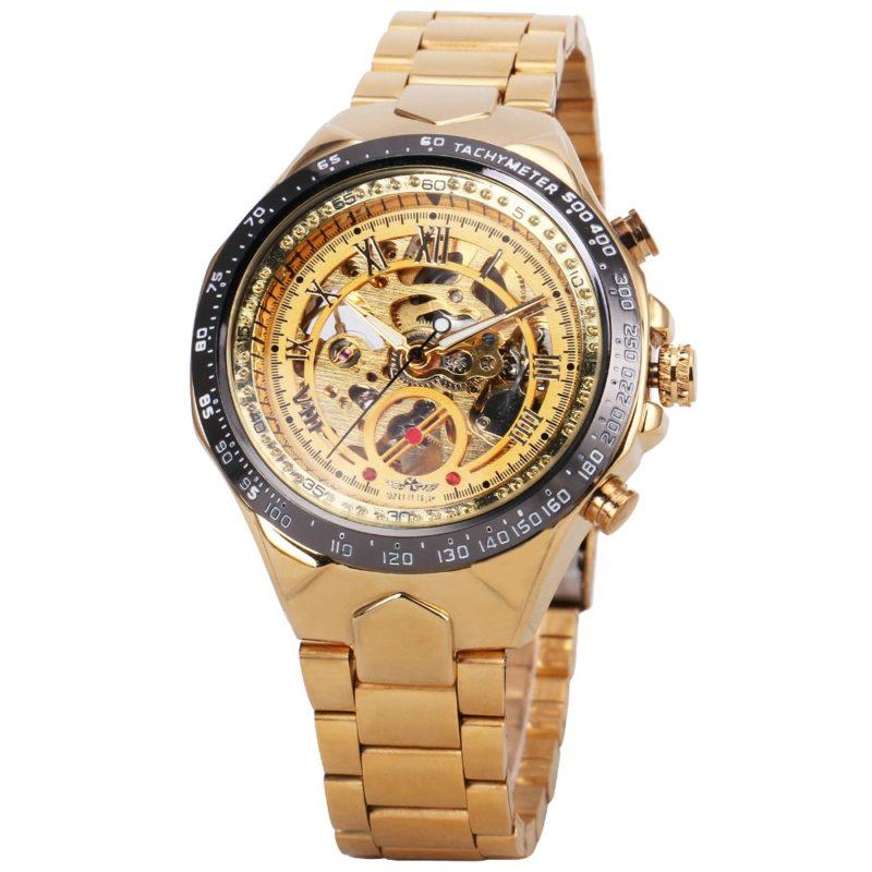 Gentleman's Gold Skeleton Watch