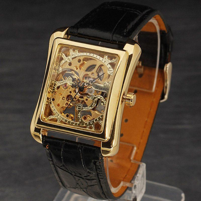 Gold Retro Skeleton Wrist Watches