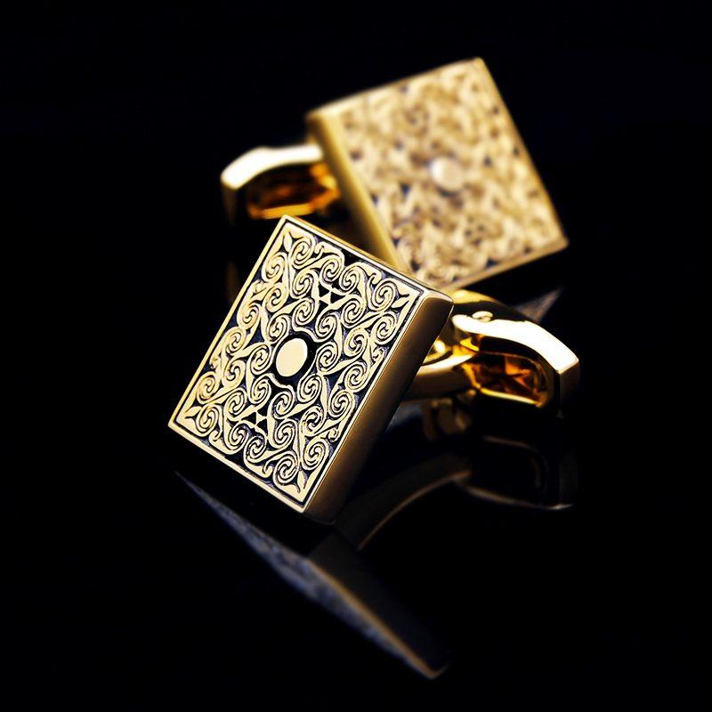 Gold Scroll Cufflinks