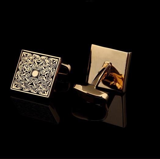 Gold cufflinks for men