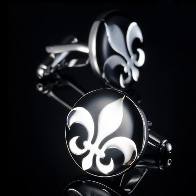Mens Fleur De Lis Cufflinks from Gentlemansguru.com