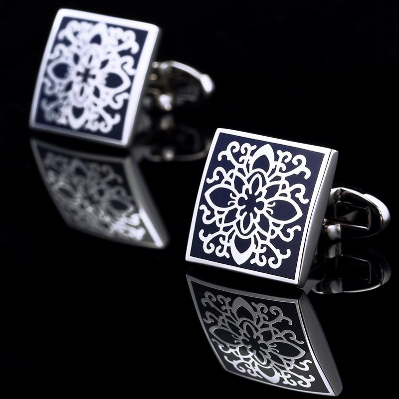 Men's Square Silver Cufflinks