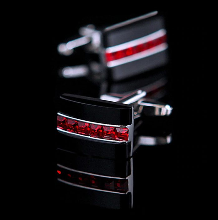 Red And Black Cufflinks Set from Gentlemansguru.com