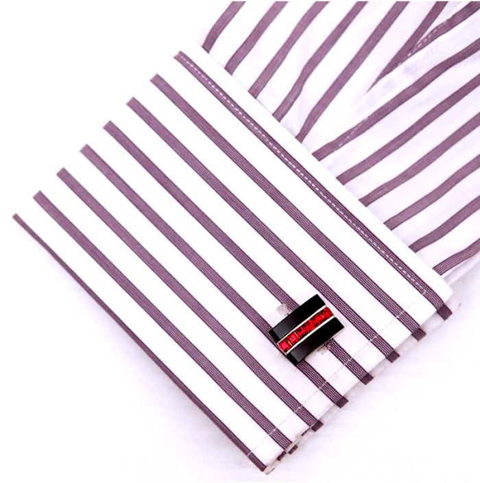Red Crystal Black Cufflinks from Gentlemansguru.com