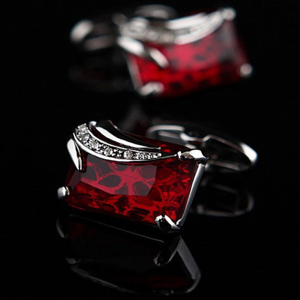 Red Deluxe Gemstone Cufflinks