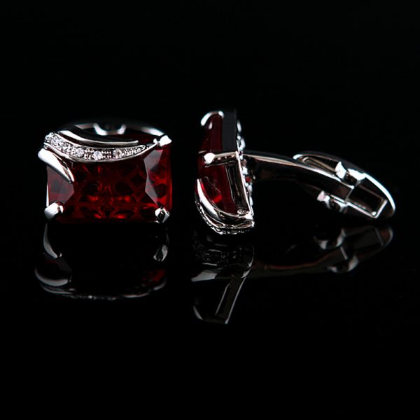 Red Fancy Gemstone Cufflinks