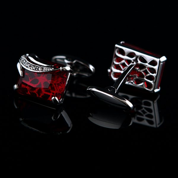 Red Gemstone Cufflinks
