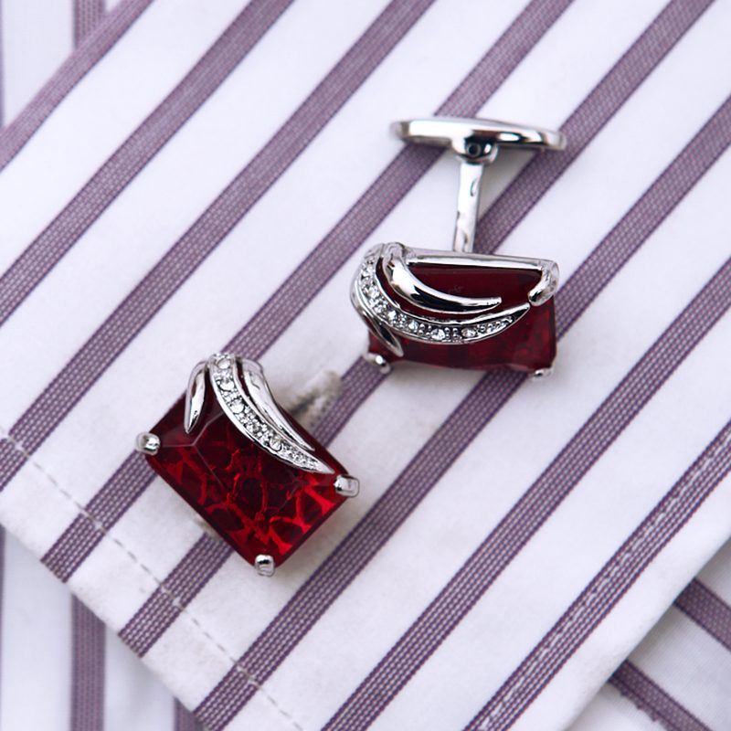 Red Luxury Gemstone Cufflinks