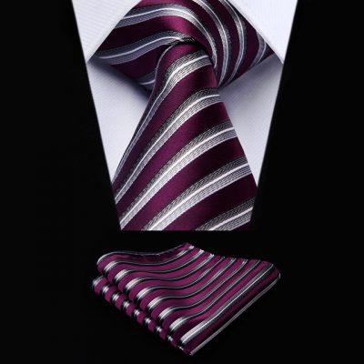 Royal Purple Silk Striped Ties