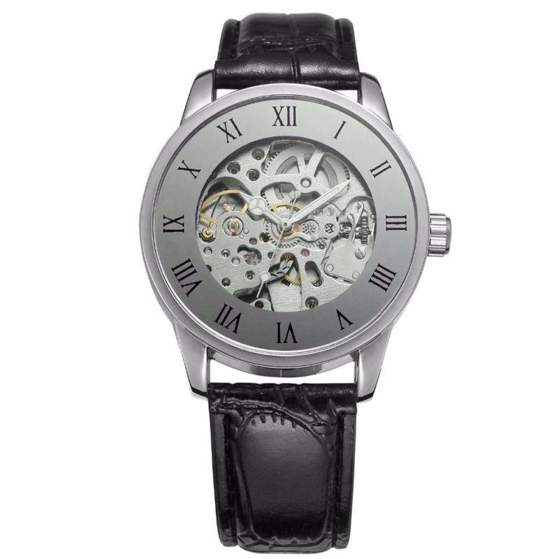 Silver Luxury Bronze Mechanical Watch
