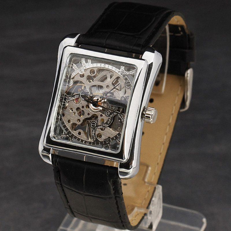 Silver Retro Skeleton Wrist Watches