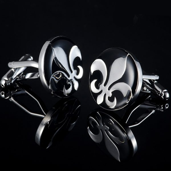 Sterling Silver Fleur De lis Cufflinks from Gentlemansguru.com