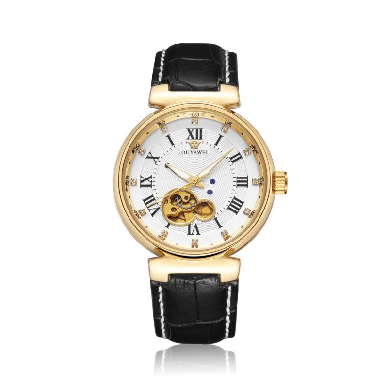 White & Gold Vintage Style Wrist Watch