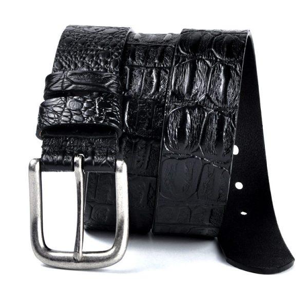 Black Leather Gentleman's Designer Belts