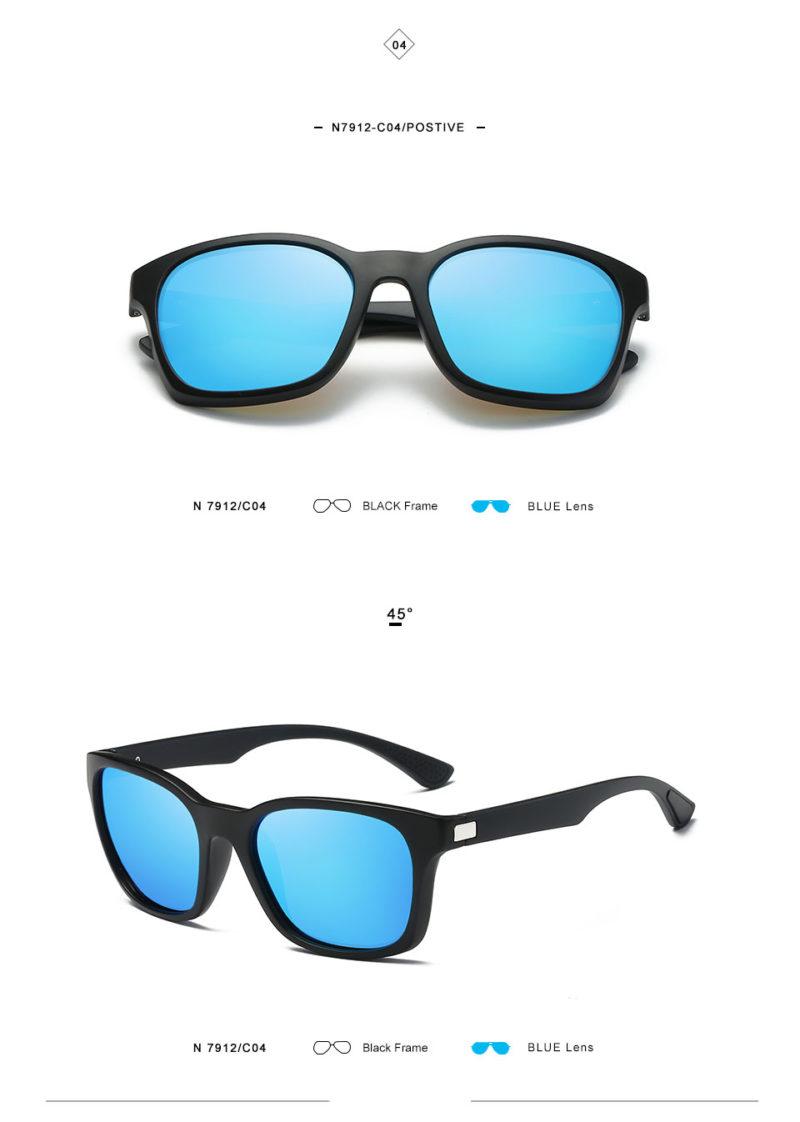 Blue Matte Framed Sunglasses