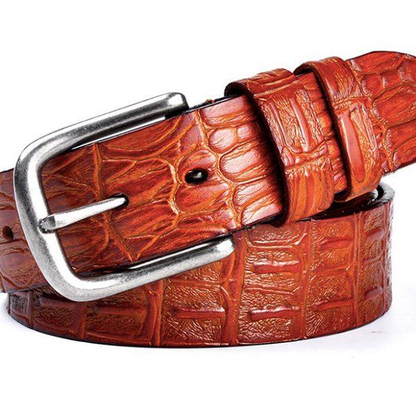 Brown Leather Gentleman's Designer Belts
