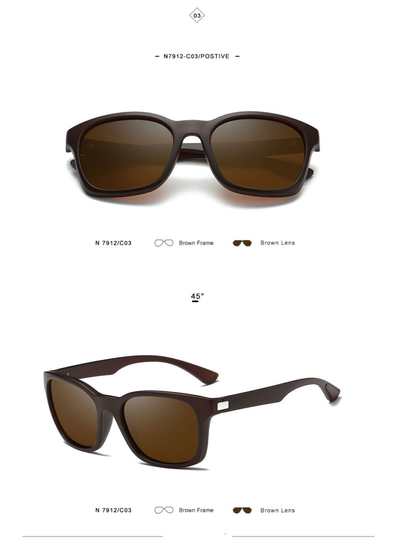 Brown Matte Framed Sunglasses