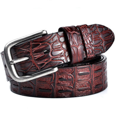 Burgundy Leather Gentleman's Designer Belts