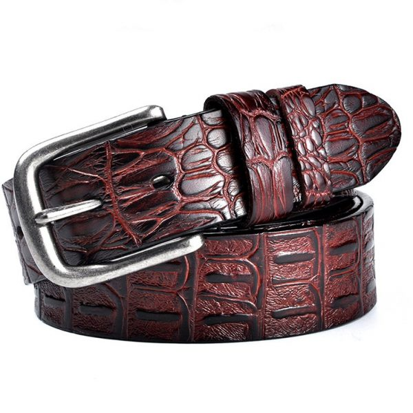 Burgundy Leather Gentleman's Designer Belts