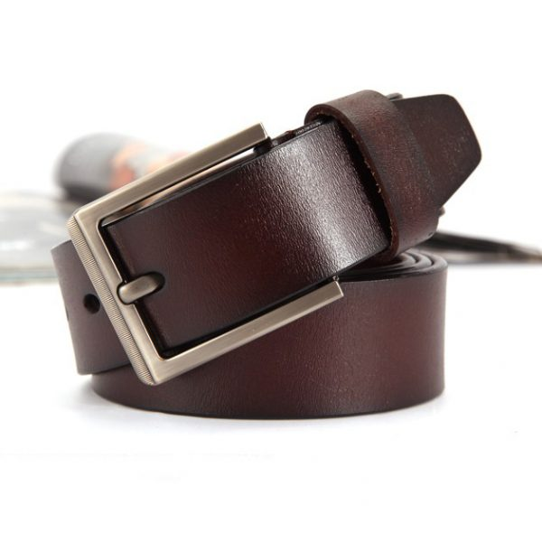 Gentleman's Vintage Leather Pin Buckle Belt